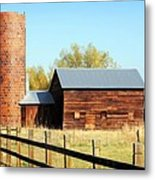 Beautiful Brick Silo Metal Print