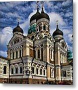 Beautiful Cathedral In Tallinn Estonia Metal Print