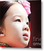 Beautiful Chinese Child Portrait Metal Print