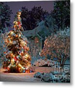 Beautiful Christmas Tree Lights Metal Print