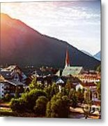 Beautiful City In The Mountains Metal Print