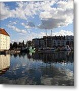 Beautiful Clouds Over Motlawa River - Gdansk Metal Print