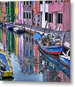 Beautiful Colors Of Burano Metal Print