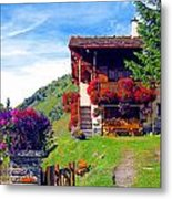 Beautiful Cottage Metal Print