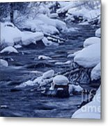 Beautiful Creek In Winter In Stanley Idaho Metal Print