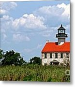 Beautiful Day At East Point Lighthouse  Metal Print