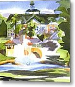 Beautiful Day At The Baptist Home Of The Ozarks In Watercolor Metal Print by Kip DeVore