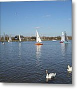 Beautiful Day By The River Metal Print