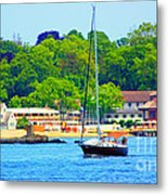 Beautiful Day For Sailing Metal Print