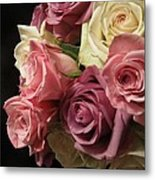 Beautiful Dramatic Roses Metal Print
