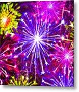 Beautiful Fireworks  6 Metal Print
