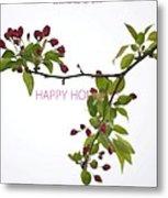 Beautiful Floral Greetings Metal Print