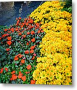 Beautiful Flower Garden Bellagio Las Vegas Metal Print