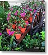 Beautiful Flower Wagon Metal Print