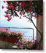 Beautiful Flowers Of Ravello Italy Metal Print