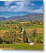 Beautiful Green Scenery Of Prigorje Region Metal Print