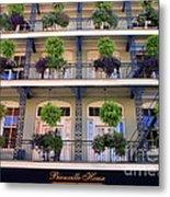Beautiful Hotel In New Orleans Metal Print