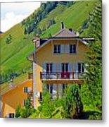 Beautiful House In Mont Blanc Metal Print