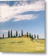 Beautiful House In Val D'orcia - Tuscany - Italy Metal Print