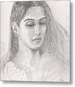 Beautiful Indian Woman Metal Print