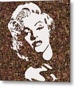 Beautiful Marilyn Monroe Digital Artwork Metal Print