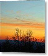 Beautiful Mountain Sunset Metal Print