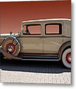 Beautiful Old Time Travelling Car Metal Print