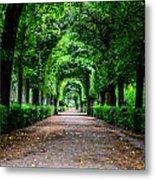 Beautiful Park At Schonbrunn Palace In Vienna Austria Metal Print