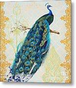Beautiful Peacock-a Metal Print