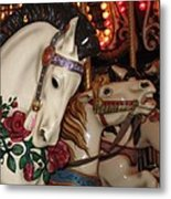 Beautiful Ponies Rwp Carousel Metal Print
