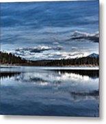 Beautiful Rainy Lake Metal Print