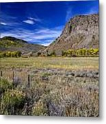 Beautiful Ranch In The Fall Metal Print