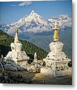 Beautiful Snow Mountain - Meili Xue Shan Metal Print by James Wheeler
