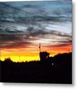 Beautiful Sunset In East Tn Metal Print by Regina McLeroy