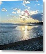 Beautiful Sunset Iowa River Metal Print