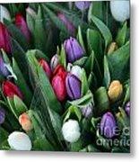 Beautiful Tulips Bouquet Metal Print