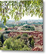 Beautiful View Of Prague Metal Print