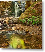 Beautiful View Of Upper Falls Located In Uvas Canyon County Park. Metal Print