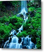 Beautiful Waterfalls In Karuizawa Japan Metal Print
