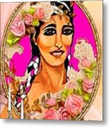 Beauty And Flowers 1 Metal Print