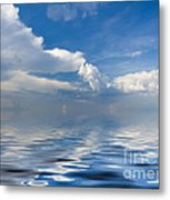 beauty Clouds over Sea Metal Print