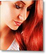 Beauty In Red Hair Metal Print