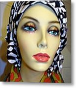 Beauty In Turban Metal Print