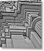 Beauty Of Cast Stone Moulding Metal Print by Mamie Thornbrue