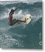 Beauty On A Surf Board Metal Print