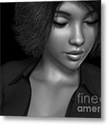 Beauty Was Her Name Bw Metal Print