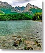 Beauvert Lake In Jasper Np-ab Metal Print
