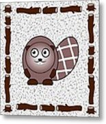 Beaver - Animals - Art For Kids Metal Print