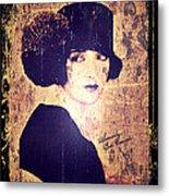 Bebe Daniels - 1920s Actress Metal Print by Absinthe Art By Michelle LeAnn Scott