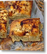 Bechamel And Roasted Garlic Focaccia  Metal Print